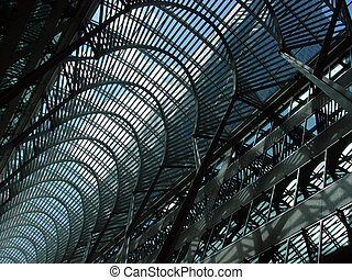 Blue skylight - A view of skylight in downtown Toronto
