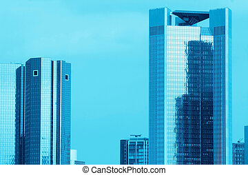 Blue Skyscrapers - Skyscrapers, blue toned