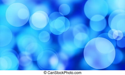 computer generated seamless loop abstract background. Blue slowly moving lights