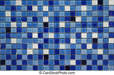blue small colorful tile background