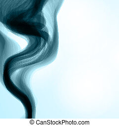 Blue smoke background.