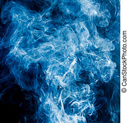 blue smoke on a black background