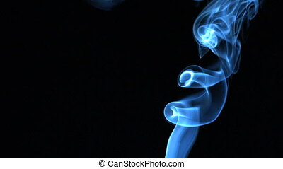 Blue smoke rising