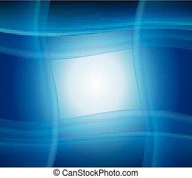 Blue smooth twist light lines