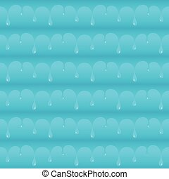 Blue smooth water drops seamless vector texture or pattern