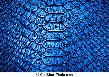Blue snake skin pattern texture