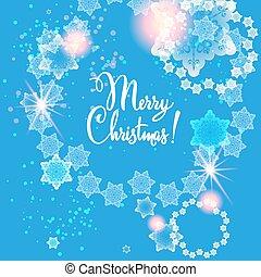 Blue snow card