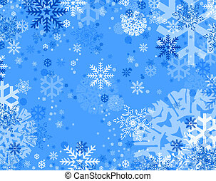 blue snow flakes - blue background with snow flakes