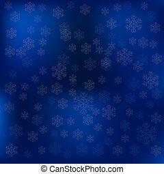 Blue Snow Winter Background
