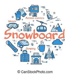 Blue Snowboard Concept