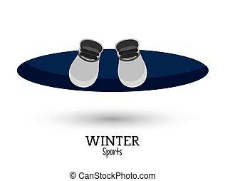 blue snowboard winter sport