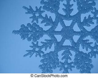 Blue snowflake background