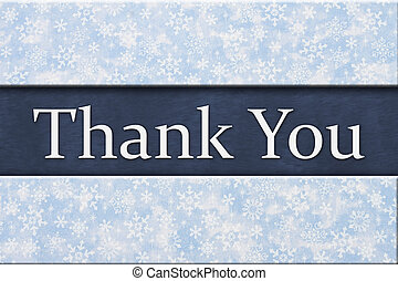 Blue Snowflake Background with Thank You Message