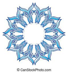 Blue Snowflake