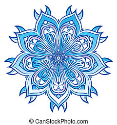 Blue Snowflake design