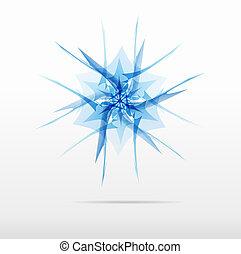 blue snowflake flower vector logo design