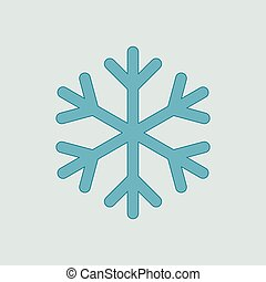 Blue snowflake icon vector isolated