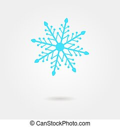 blue snowflake icon with shadow