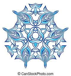 Blue Snowflake Ilustration