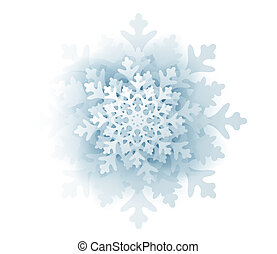 Blue snowflake isolated on white background