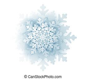 Blue snowflake isolated on white background