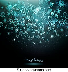 Blue snowflake on a dark background