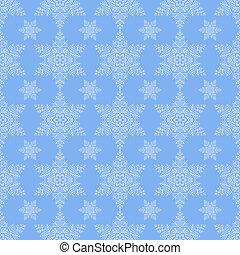 Blue Snowflake Seamless