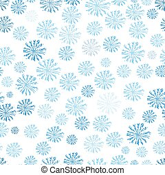 Blue Snowflakes seamless pattern. Vector abstact background...