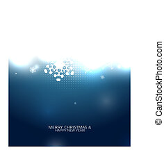 Blue snowy magic Christmas background