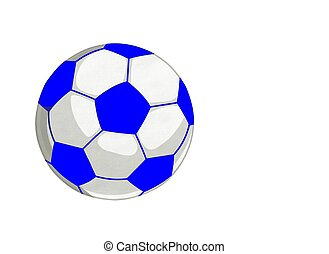 Blue Socer Footbal Ball Isolated Background