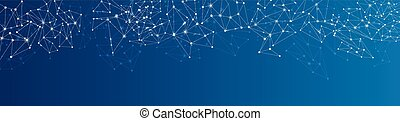 Blue social network background. - Blue social network mesh....