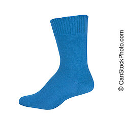 blue sock isolated on white background