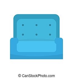 Blue sofa icon