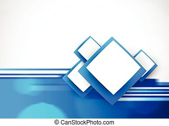 Soft background in blue color whith motion blur effect and squares