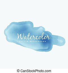 blue soft watercolor stain