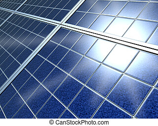 Blue Solar energy power panel