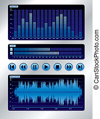 Blue sound mixer - Wave editor, spectrum analyzer, output...