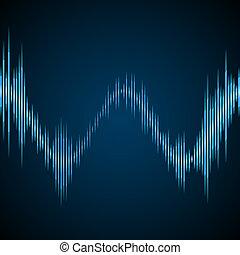 Blue sound wave