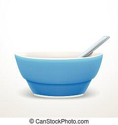 blue soup plate