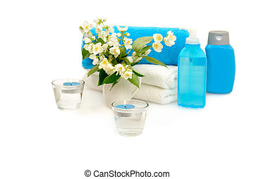 blue spa with jasmine