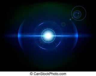Blue space explosion, cosmos burst