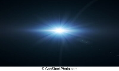 blue space star flare