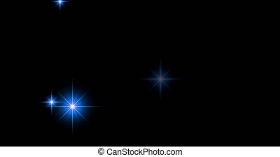 Blue sparkle effect. - Blue sparkle star effect on black ...
