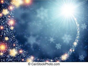 Blue sparkling background. - Blue sparkling background with...