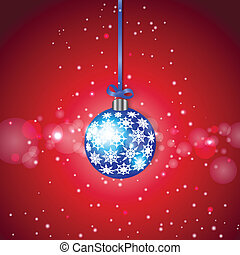 Blue Sparkling Christmas Ball