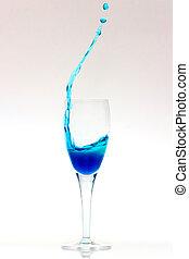 Blue sparkling wine