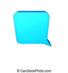 speech balloon - Blue speech balloon
