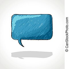 Blue speech balloon icon