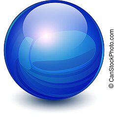Blue sphere 3D