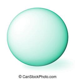 blue sphere.